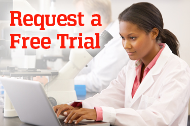Promo for requesting a free trial to try AccessBioMedicalScience.